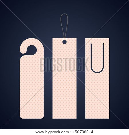 Bookmark label tag with points icon. Guidebook decoration reading and literature  theme. Colorful design. Vector illustration