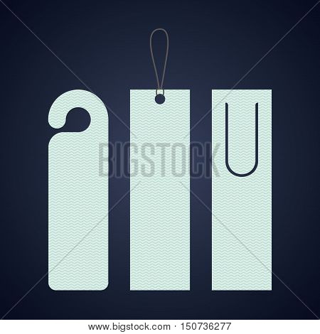 Bookmark label tag icon. Guidebook decoration reading and literature  theme. Colorful design. Vector illustration
