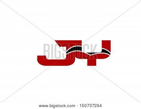 JY Logo. Vector Graphic Branding Letter Element