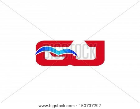 Letter GJ Logo design vector template abstract
