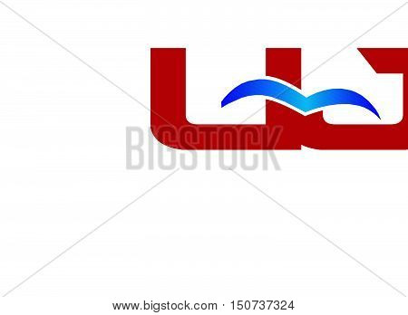 Letter UJ Logo design vector template abstract