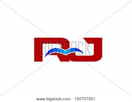Letter RJ Logo design vector template abstract