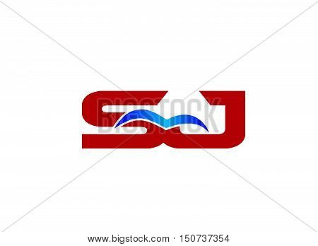Letter SJ Logo design vector template abstract