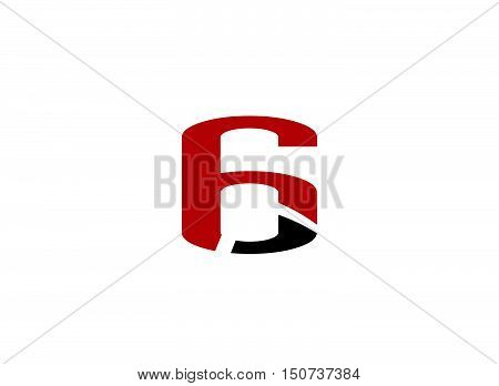 Vector sign number 6 logo design vector template