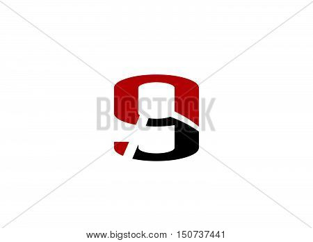 Abstract Number 9 logo Symbol icon design vector template abstract