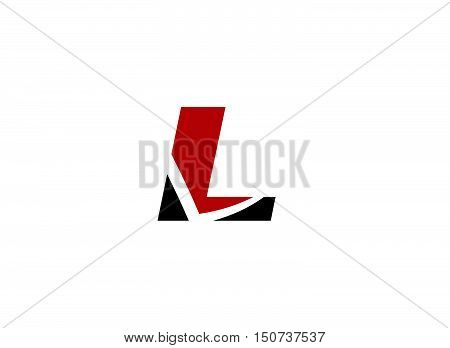 Abstract icon based on the letter L design vector template abstract