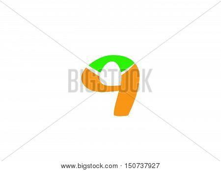 Number nine logo.Logo 9 vector template .company linked letter logo