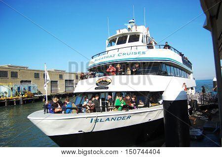 SAN FRANCISCO, CA - DEC 30: Alcatraz Cruises to Alcatraz Island on December 29, 2008 in San Francisco, California, USA.