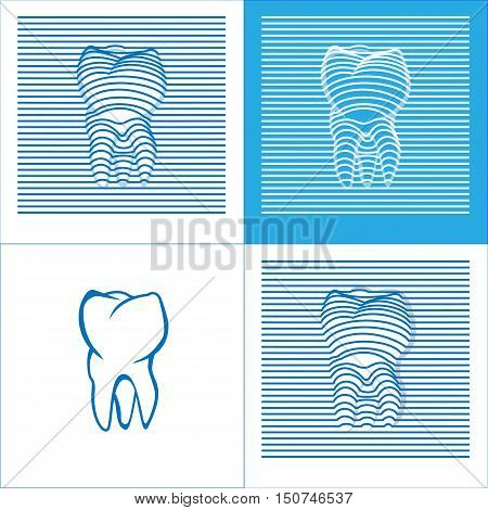 Tooth Poster  Stomatology 3D Icons. Vector illustration.