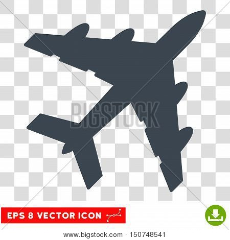 Vector Bomber EPS vector pictograph. Illustration style is flat iconic smooth blue symbol on a transparent background.