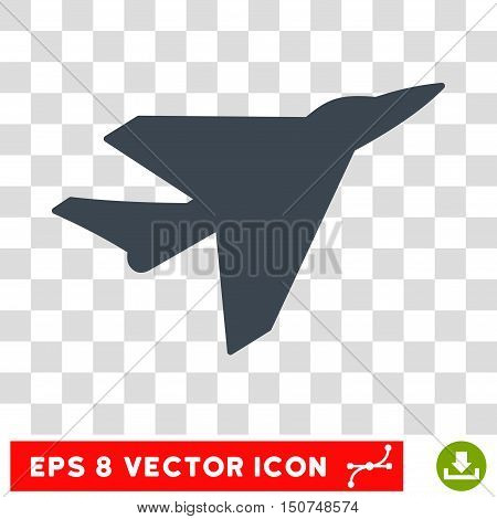 Vector Intercepter EPS vector pictograph. Illustration style is flat iconic smooth blue symbol on a transparent background.
