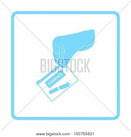 Hand Holding Evidence Pocket Icon