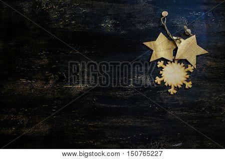 Christmas Wooden Snowflakes