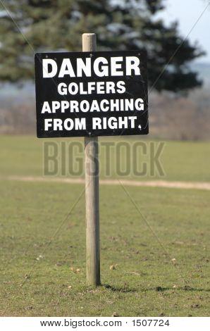 Golf-Warnschild