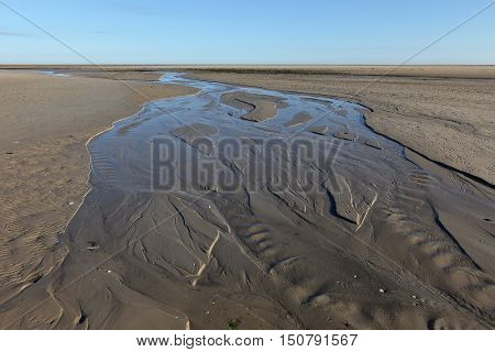 The Wadden Sea of Schleswig Holstein in Germany