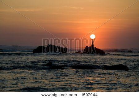 Jesus hält die Sonne