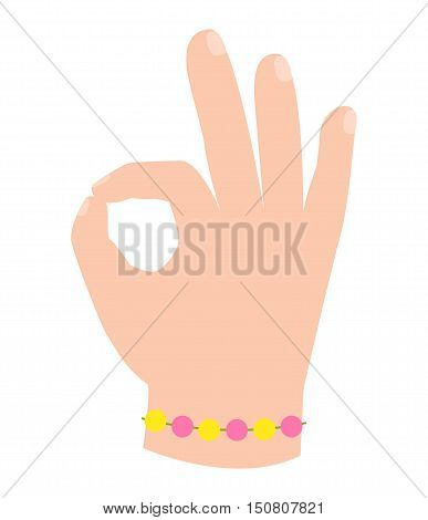 Ok hand success gesture and okey hand yes agreement. Okey hand signal business human agree. Best approval accept. Silhouette of hand showing symbol of all ok