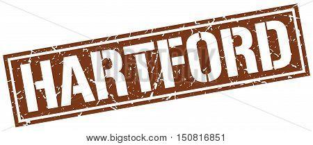 Hartford. stamp. square grunge vintage isolated sign