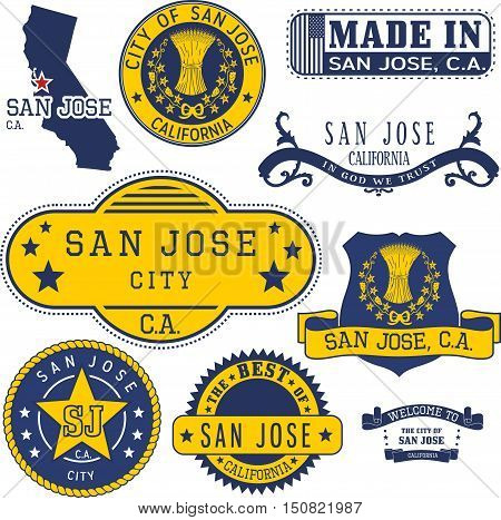 San Jose City, Ca, Generic Stamps And Signs