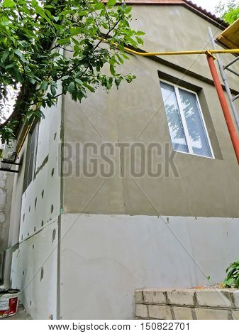 Insulation of the house with the styrofoam