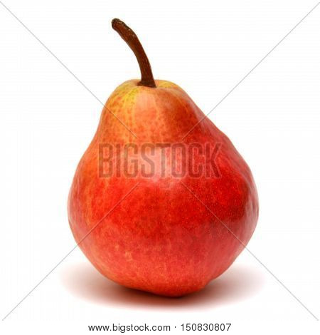 Red pear isolated on white background. Fruit. Flat.