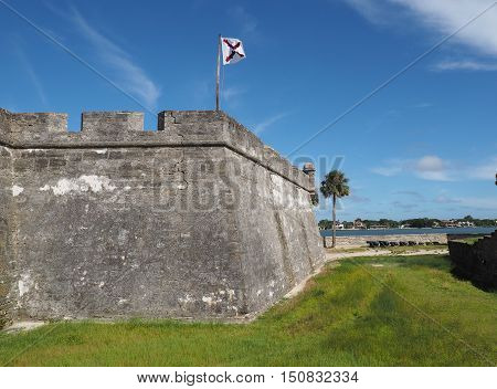 The fort is the oldest masonry fort in the United States. It is located near Matanzas Bay. THe fort is constructed of coquina.
