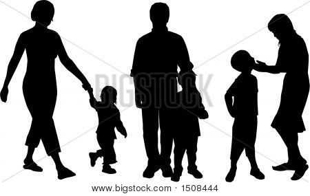 Family Silhouettes.Eps