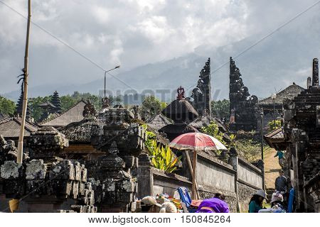 Pura besakih mother temple Bali Indonesia near Gunung Agung 5