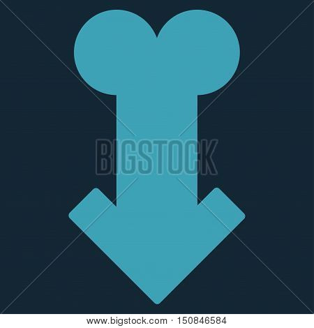 Male Sexual Disfunction vector icon. Style is flat symbol blue color rounded angles dark blue background.