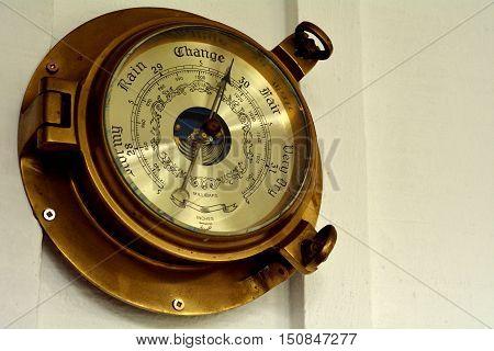 Barometer On A Wal