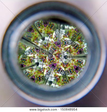 Vew Of Kaleidoscope Cylinder Tube