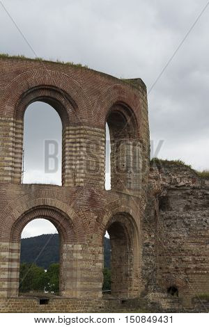 Kaiserthermen. Ruins Of The Imperial Roman Baths In Trier, Germany.