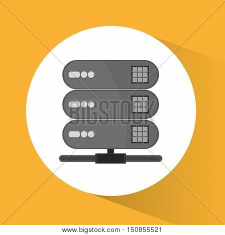 Web hosting icon. Data center base and security theme. Colorful design. Vector illustration