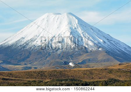 Helicopter Fly Around Mount Ngauruhoe In Tongariro National Park