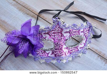Purple Female Carnival Mask.