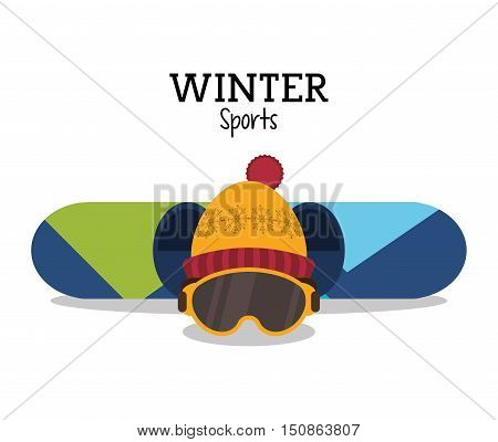 Snowboard icon. Winter sport hobby and recreation theme. Isolated design. Vector illustration