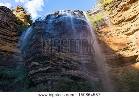 Huge Wentworth Falls View From Beneath