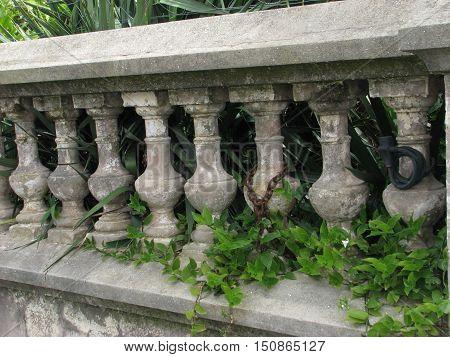 Old Rustic, Unpainted, Concrete,Garden Fence 01asdOld Rustic, Unpainted, Concrete,Garden Fence 01asd