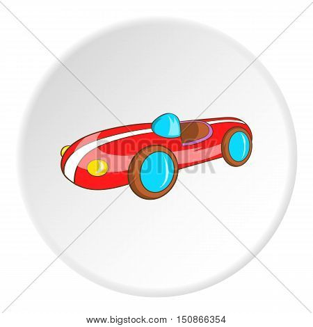 Childrens machine icon in cartoon style isolated on white circle background. Games and toys symbol vector illustration