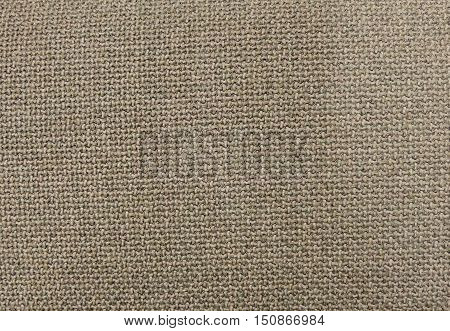 Textile Texture Close Up of Brown Sack or Burlap Fabric Pattern Background in Pastel Colors Tone.
