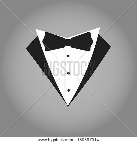 Tuxedo Logo or Illustration. Wedding Organizer Logo. Isolated