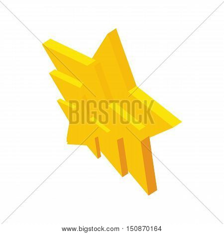Stars composition icon in isometric 3d style isolated on white background vector illustration