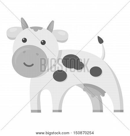 Cow monochrome icon. Illustration for web and mobile.