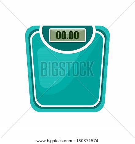 Bathroom scales on the white background. Vector