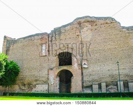 Hdr Augustus Mausoleum In Rome