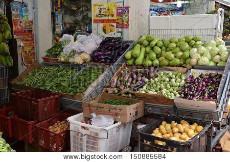 Assorted Fresh Raw Organic Vegetables