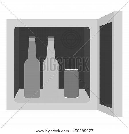 Mini-bar icon in monochrome style isolated on white background. Kitchen symbol vector illustration.