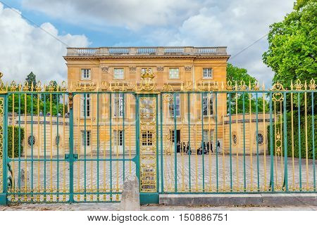 Versailles, France - July 02, 2016 : Petit Trianon-beautiful Palace In A Famous Palace Of Versailles