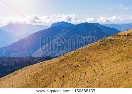 Autumn Mountain Landscape, Krasnaya Polyana, Sochi