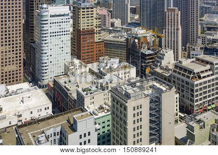 View From The Rooftop To Skyline Of San Francisco,